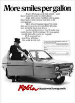 Reliant Robin Advertisement Poster