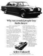 Rolls Royce Silver Shadow Advertising Poster