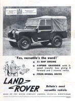 Land Rover Series I Advertising Poster