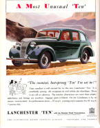 Lanchester 10 Advertising Poster