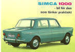 Simca 1000 Advert