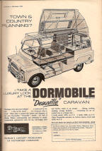 Old Bedford Dormobile Ad