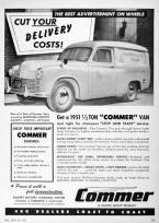 Original Commer Van Advertisement