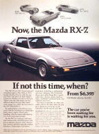 Mazda RX7 Advertising Poster