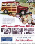 Jeep Station Wagon Advertising Poster