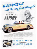 Sunbeam Alpine Advertisement