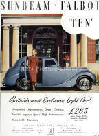 Sunbeam Talbot Ten Advertising Poster
