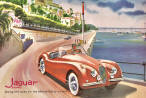 Jaguar XK140 Advertisement Poster