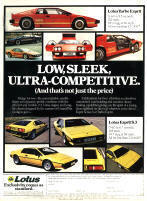 Lotus Espirit Advertisement