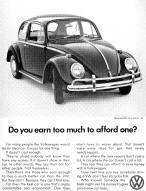 Volkswagen Beetle Advertising Poster