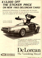 Delorean Dealer Advertisement