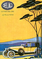 Delage Advertising Poster