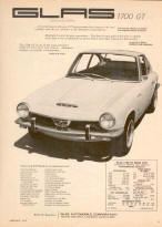 Glas 1700GT Advertisement Poster