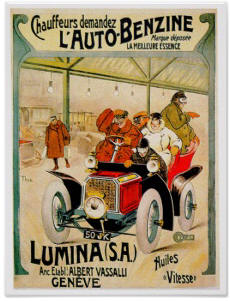 French Autos Poster