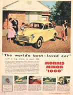 Morris Minor 1000 Advertisement