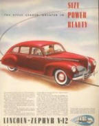 Lincoln Zephyr Advertising Poster