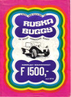 Ruska Buggy Advertising Poster