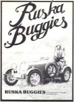 Ruska Buggy Advertisement