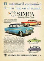 Simca Advertising Poster
