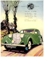 MG 1.5 Litre Advertising Poster